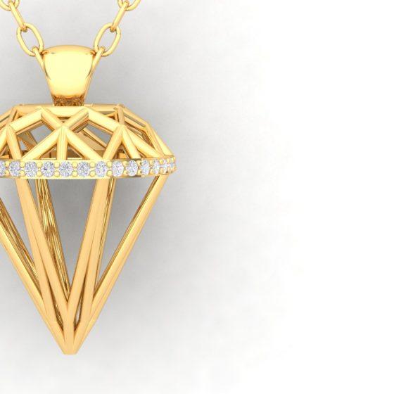 endentif ALMAS - Or jaune - Diamant blanc